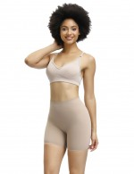 Hourglass Skin High Elastic Butt Lifter Shorts Solid Color High-Compression