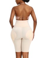 Desirable Designed Skin Color Thigh Length Butt Lifting Panty Strapless