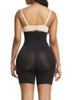Black Three Buckles Rear Lifting Shapewear Seamless Slimming Belly