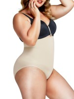 Skin Color High Cut Seamless Panty High Waist High-Compression