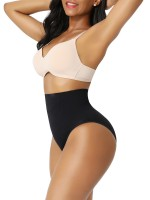 Black Seamless Plus Size Butt Lifter High Waist Figure Shaping