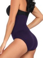 Amazing Dark Purple High Waist Seamless Panty Large Size Close Fit