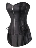 Light Control Black Three-Piece 12 Bone Overbust Corset Slimmer