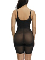 Lightweight Black Adjustable Straps Plus Size Shape Bodysuit Haute Contour