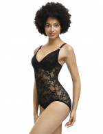 Supper Fashion Black Lace Adjustable Straps Full Body Shaper