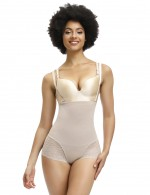 Seamless Skin Full Body Shaper Lace Detachable Straps Soft-Touch