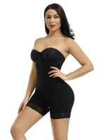 Black Detachable Straps Full Body Shaper Big Size Tummy Trimmer