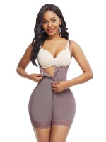 Coffee Color Hourglass Body Shaper Underbust Zipper Slim Waist