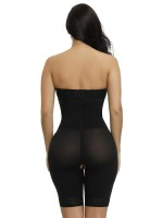 Abdominal Control Black Detachable Straps Full Body Shaper Hook Plus Size