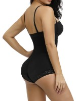 Simplicity Black High Waist Hook Front Plus Size Bodysuit Shape Stretch