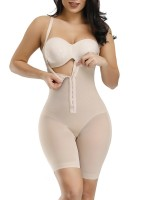 Extra Firm Control Skin Color Hook Detachable Straps Full Body Shaper