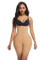 Extra Firm Skin Color Shoulder Latex Body Shaper Queen Size