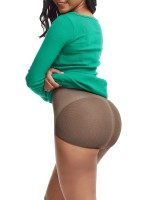 Light Brown Detachable Straps Mesh Seamless Shapewear Compression