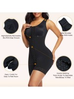 Skin Color Wide Straps Crotchless Full Bodyshaper Hooks For Weight Loss