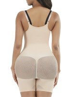 Skin Color 3 Rows Hooks Open Crotch Body Shaper Tummy Training