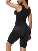 Black Full Body Shaper Lace Open Crotch Abdominal Control