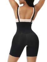 Black Seamless Shapewear Shorts Adjustable Straps Ultra Light
