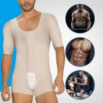 Traditional Nude Hooks Big Size Male Bodysuit Short Sleeves Secret Slimming