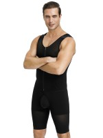 Black Open Crotch Plus Size Hook Men's Shaper Zipper Beautiful Addition