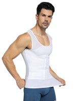 Ideal White Crossover Back Mesh Wide Straps Men's Tank Correct Posture