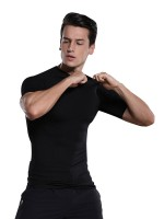 Waist Slimmer Black Men's Shaper Short Sleeve High Stretch Superior Quality