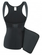 Flatten Tummy Black Big Size Neoprene Vest Shaper Hooks And Eyes Tight Fit