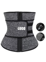 Black Plus Size Neoprene Waist Trainer 7 Bones Double Belt