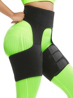 Everyday Shaping Black Neoprene Thigh Shaper High Waist Ultra Light