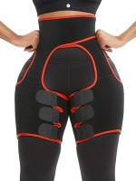 Breathe Freely Red Rough Surface Neoprene Thigh Trainer Cellulite Reducing
