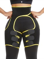 Basic Shaping Yellow Butt Lifting Neoprene Thigh Shaper Supper Fashion