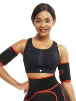 Captivating Red Neoprene 2 Pcs Arm Trimmers With Pockets Instantly Slims