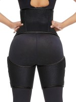 Black Neoprene Thigh Waist Trainer Butt Lifting For Weight Loss