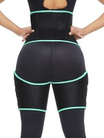 Green Neoprene Tummy And Thigh Shaper Butt Lifting High Power
