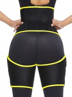 Yellow Neoprene Waist And Thigh Shaper High Waist Tummy Control