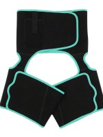 Light Green Neoprene Waist And Thigh Shaper Tummy Control