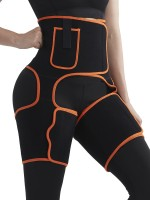 Compression Silhouette Orange Sweat Tight Trimmer High Waist Pocket