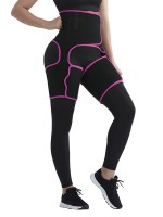 Graceful Rose Red Sticker Neoprene Pocket Thigh Trainer Slim Fit