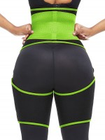 Green Adjustable Neoprene Thigh And Waist Trainer High-Compression