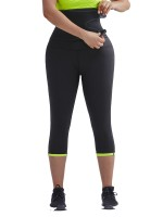 Staple Green Neoprene Shaper Pants With Waist Belt Tailored Shape