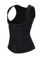 Black Double Belt Hooks Sweat Vest Waist Trainer Waist Control