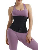 Perfect Curves Black Neoprene Double Belt Waist Shaper Hooks