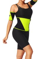 Light Yellow Colorblock Embossed Waist Belt Neoprene Chic Online (Waist Trainer Only)