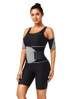 Light Gray Colorblock Slimming Arm Shaper Neoprene Smoothlines
