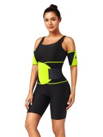 Light Yellow Neoprene Two Pieces Colorblock Arm Shaper Comfort