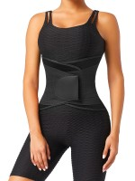 Black 5 Plastic Bones Neoprene Waist Trainer Belt For Fitness