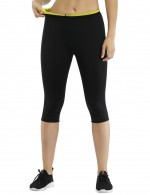 Remarkable Black Neoprene Shapewear Pants High Rise