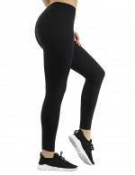 Black Neoprene Shapewear Pants Slimming Thighs High Power