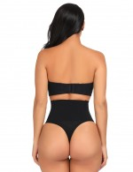 Dreamlike Black Butt Lifter High Wasit Solid Color Versatile Item