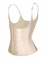 Slim Skin Color Hooks Latex 13 Steel Boned Tank Top Body Shaper