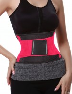 Gym Weight Loss Rose Red Tummy Slimming Shapewear Belt
